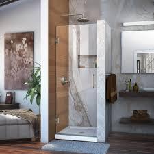 dreamline unidoor 30 in x 72 in frameless hinged pivot shower