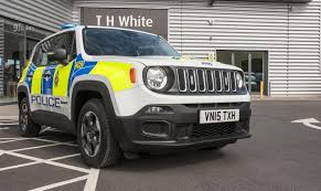 car jeep white jeep renegade being tested as police car in britain autoevolution