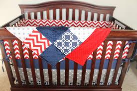 Chevron Boy Crib Bedding Baby Boy Crib Bedding Navy Gotcha Chevron And Gray Dot