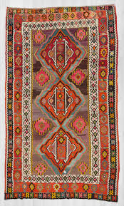 Large Kilim Rugs Handwoven Large Vintage Colorful Turkish Kilim Rug 1447