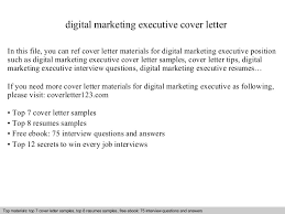 Marketing Executive Resume Samples Free by Digital Marketing Executive Cover Letter