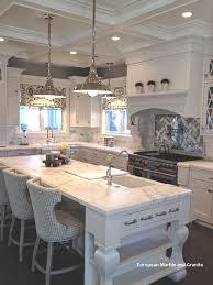 Stone Backsplash Kitchen Interior Calacatta Gold Marble And Mirror Kitchen Arabesque