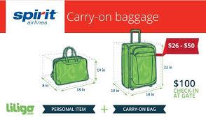 the low down on spirit airlines u0027 baggage policies liligo com