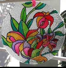 painting on glass windows gallery glass class reena returns to glass painting in india