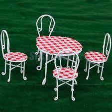 Garden Bistro Chairs 1 12 Miniature Dollhouse Fairy Garden Bistro Furniture Metal Table