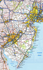 New Jersey national parks images Large detailed roads and highways map of new jersey state with all jpg