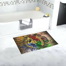 Yellow Runner Rug Bathroom Runner Custom Fashion Non Slip Harry Potter Bath Mat Soft