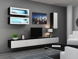 unit tv 15 collection of black gloss tv wall unit