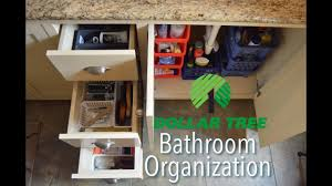 Bathroom Organizers Ideas by Dollar Tree Bathroom Organization Ideas Youtube