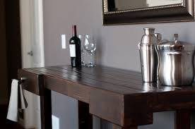 ana white console table ana white workbench console diy projects within table bar decorating