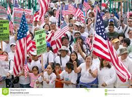 Mexicans Flags Hispanics Wave American Flags As Hundreds Of Thousands Of