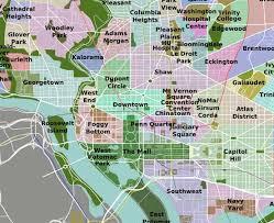washington dc map puzzle washington dc neighborhoods map pinteres