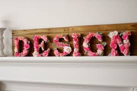 diy rustic letters with flowers design dazzle