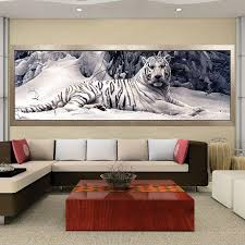home interior tiger picture white tiger 5d painting pretty neat creative