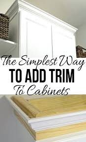 Decorative Molding For Cabinet Doors Molding For Cabinet The Easiest Way To Add Trim To A