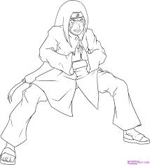 draw neji step step naruto characters anime draw