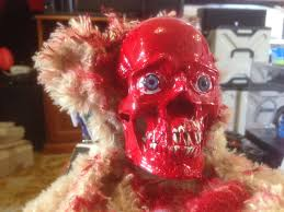 deady bear spirit halloween peek a boo teddy rips face off youtube