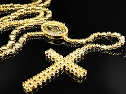gold rosary mens 10k yellow gold rosary canary diamond chain necklace 10 0 ct
