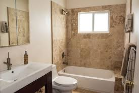 Contemporary Full Bathroom With Limestone Tile Floors  DropIn - Recessed medicine cabinet vs surface mount