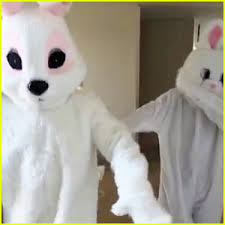 bunnies for easter kanye west tyga dressed as bunnies for easter celebration