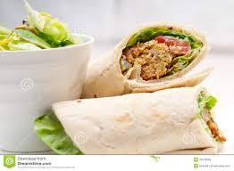 arabic wrap falafel pita bread roll wrap sandwich stock image image of
