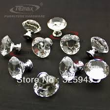 10pcs lot 30mm zinc alloy sparkle diamond crystal kitchen cabinet