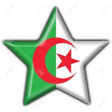 Algerian Flag Algeria Button Flag Star Shape Stock Photo Picture And Royalty