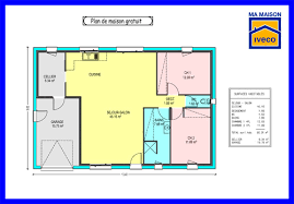 plan maison gratuit plain pied 3 chambres plan maison plain pied 70m2 gratuit de newsindo co