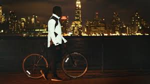 reflective cycling jacket a glowing cycling jacket inspired by tron fast company