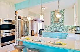Kitchen Distressed Turquoise Kitchen Cabinets Home Design Ideas Turquoise Kitchen Cabinets For Any Kitchen Styles Homesfeed