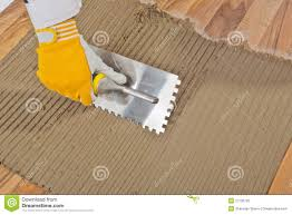 tile adhesive notched trowel stock photography image 27136792