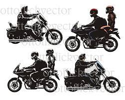 cdr bike motorcycle bike rider vector clipart eps ai cdr png jpg b u0026w