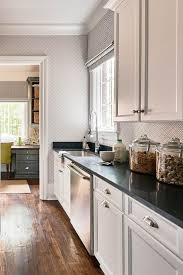 Exquisite White Shaker Kitchen Cabinets With Black Countertops - Long kitchen cabinets