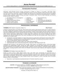 Construction Cv Template Mechanical Foreman Resume Resume For Your Job Application