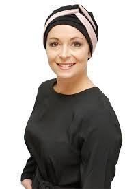 infinity headband black and infinity headband with chemo turban