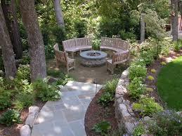 outdoor fire pit seating ideas quiet corner