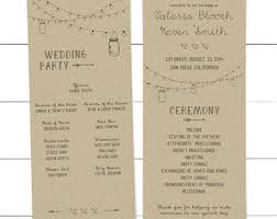 ceremony program template wedding program template etsy
