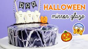 how to make a halloween mirror glaze cake youtube