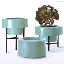contemporary planter boxes with modern chrome tube planter design