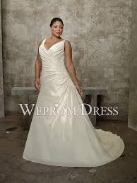 clearance plus size wedding dresses button satin taffeta sleeveless empire v neck a line clearance
