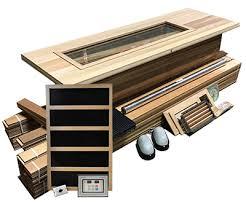 northern lights sauna parts sauna kit 4 x 5 infrared sauna room package 2400 watt infrared heater