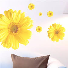 daisy wall decor gallery home wall decoration ideas wall ideas 2017 sunflower shaped transparent wall hanging vase sunflower stickers wall decor 2pcs diy home