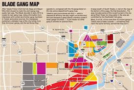 toledo ohio map battle lines gangs of toledo map the blade