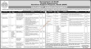 Govt Jobs Resume Upload by Government Of Sindh Health Department Jobs Dawn Jobs Ads 19