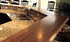 walnut breakfast bar table walnut wood raised breakfast bar countertops in virginia modern