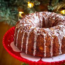 banana pineapple bundt cake with coconut rum glaze poet in the