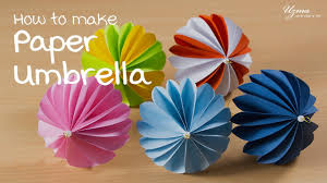 how to make paper umbrella diy room decoration idea paper