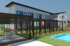 Beach Home Design Beach House Design 3d Model Cgtrader