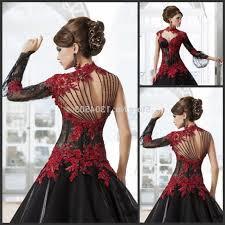 gothic wedding dresses red and black at detroit octvtalkshow com
