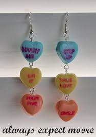 sweetheart candy sweetheart candy dangly earrings